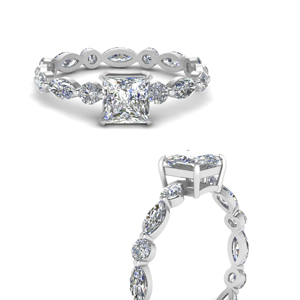 Marquise And Round Eternity Ring