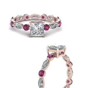 marquise-and-round-eternity-princess-cut-diamond-engagement-ring-with-pink-sapphire-in-FDEWB9398PRRGSADRPIANGLE3-NL-RG