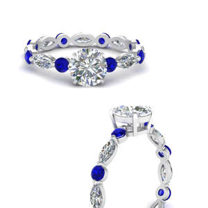 marquise-and-round-eternity-round-cut-diamond-engagement-ring-with-sapphire-in-FDEWB9398RORGSABLANGLE3-NL-WG