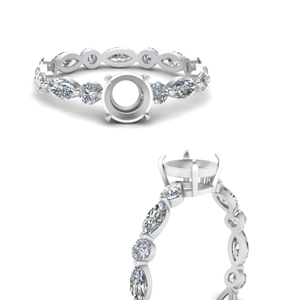 marquise-and-round-eternity-semi-mount-diamond-engagement-ring-in-FDEWB9398RORSMRANGLE3-NL-WG