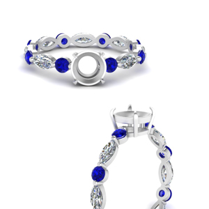 marquise-and-round-eternity-semi-mount-diamond-engagement-ring-with-sapphire-in-FDEWB9398RORSMRGSABLANGLE3-NL-WG