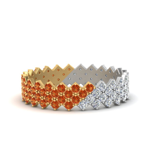 compass point day night diamond band with orange sapphire in yellow gold FDEWB9473BGSAOR NL YG GS