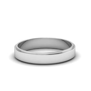 White Gold Simple Flat Band