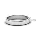 small wedding band for him in 14K white gold FDFE74MM NL WG HW