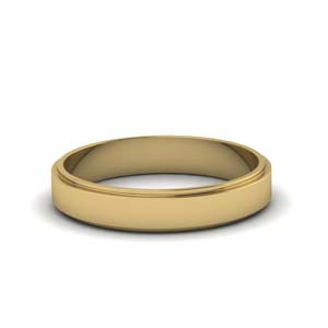 Gold Wedding Band 4MM