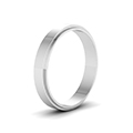 small wedding band for him in 14K white gold FDFE74MMANGLE2 NL WG
