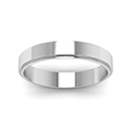 small wedding band for him in 14K white gold FDFE74MMANGLE5 NL WG