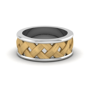 18K Gold Male Wedding Band