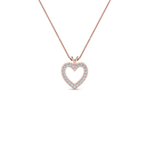 Open Heart Diamond Fancy Pendant