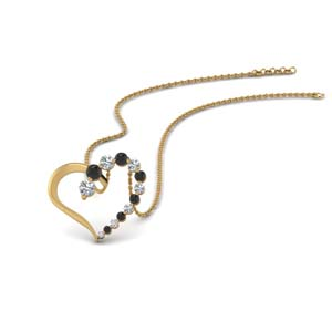 Black Diamond Gold Necklace