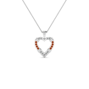 Open Heart Fancy Diamond Pendant
