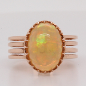 Victorian Era Opal Solitaire Ring