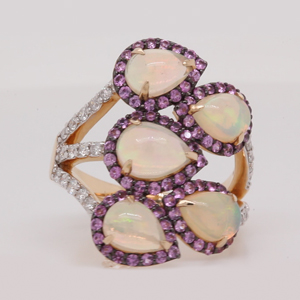 Pear Shape Opal Cocktail Ring