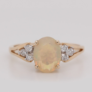 Split Band Opal Alternative Engagement Rings
