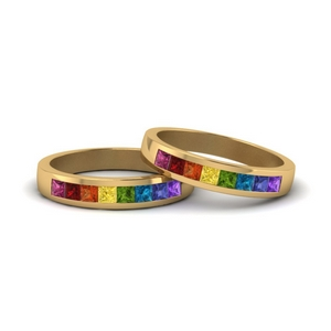 channel set rainbow ring for lesbian in FDLG167BG NL YG GS