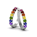lesbian wedding diamond band with rainbow in FDLG5200BGANGLE2 NL WG GS