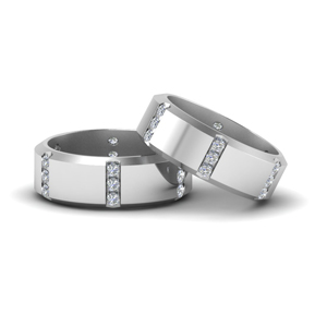 Beveled Gay Ring With Diamonds