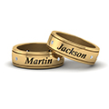 personalized gay wedding band with diamonds in FDLG8298B NL YG
