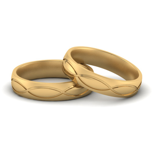 Infinity Engraved Gay Wedding Rings