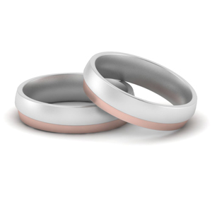 Gay Wedding Bands Two Tone