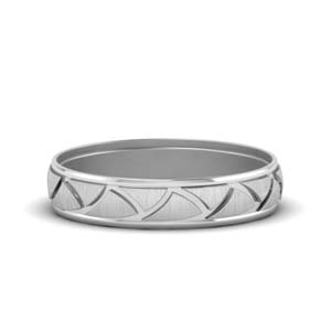 Platinum Design Mens Ring