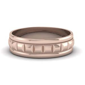 Milgrain Carved Men Band 6 MM