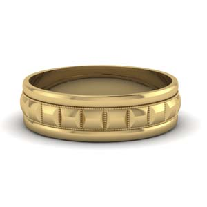 Traditional Milgrain Carved Band