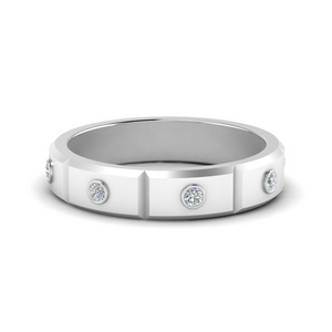 Bezel Set Mens Diamond Band