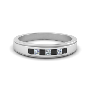 seven-stone-princess-cut-mens-wedding-ring-with-black-diamond-in-FDM124203PRGBLACK-NL-WG