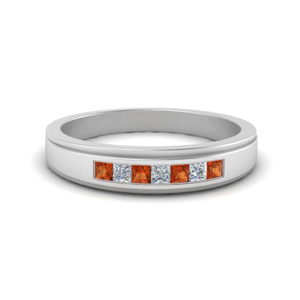 Orange Sapphire Ring For Male