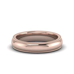 4MM Milgrain Mens Wedding Band
