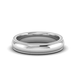 4MM Milgrain Wedding Band