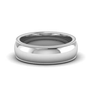 Mens Wedding Band 6MM