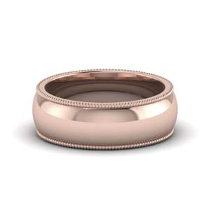 Milgrain Wedding Band For Male