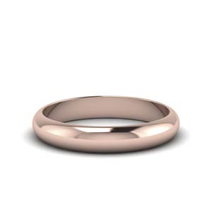 4MM glossy light weight comfort fit mens wedding band in 14K rose gold FDM141783B 4MM NL RG