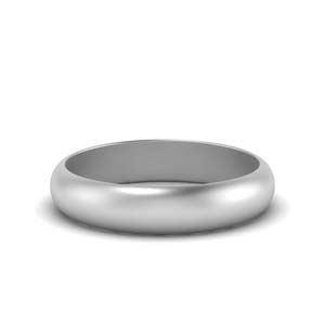 Low Dome 5mm Band For Him