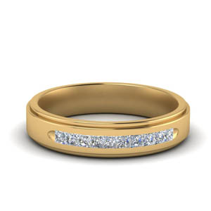 Yellow Gold Mens Flat Ring