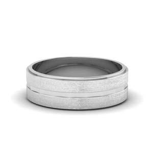 Brushed Finish Band For Male