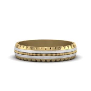 14K Gold Mens Band