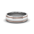 14K white gold two tone gold mens wedding ring bands FDM50240B NL WG