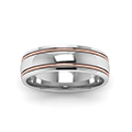 14K white gold two tone gold mens wedding ring bands FDM50240BANGLE5 NL WG