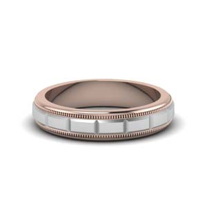 Milgrain Male Comfort Fit Ring