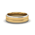 mens two tone wedding bands in 14K white gold FDM51343B NL WG