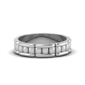 Unique Mens Anniversary Ring Platinum