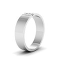 3 stone diamond wedding anniversary band for men in 14K white gold FDM8111BANGLE2 NL WG