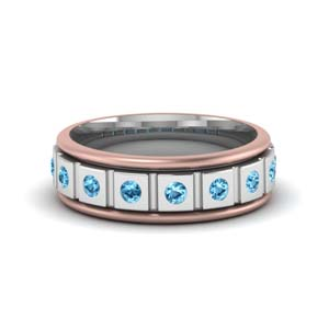 Platinum Blue Topaz Band