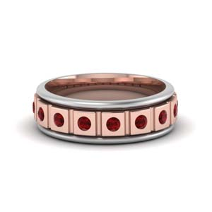 Two Tone Ruby Mens Band