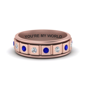 Sapphire Men Wedding Band