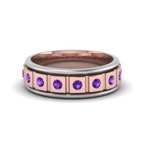 Purple Topaz Mens Band