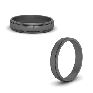 Male Black Wedding Bands